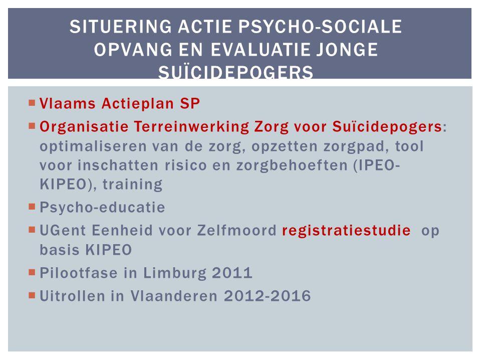 Situering actie psycho-sociale opvang en evaluatie jonge suïcidepogers