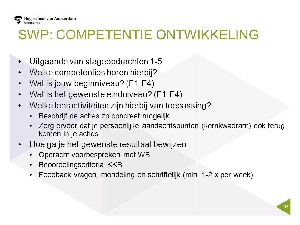 SWP: competentie ontwikkeling