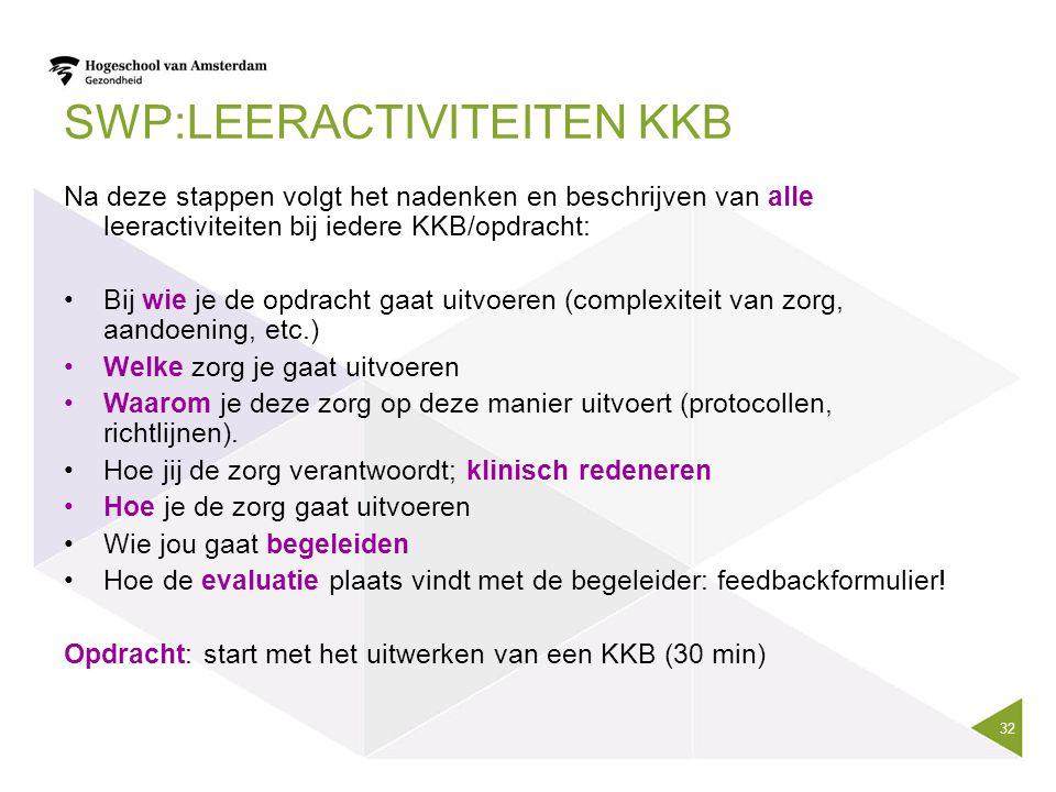 SWP:Leeractiviteiten KKB
