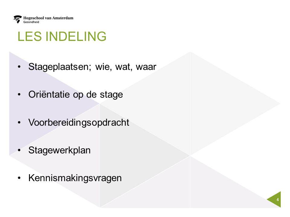 Stageverslag Indeling | holidays |