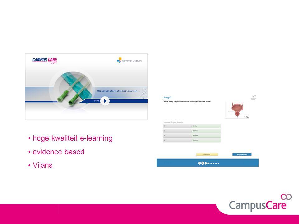 hoge kwaliteit e-learning
