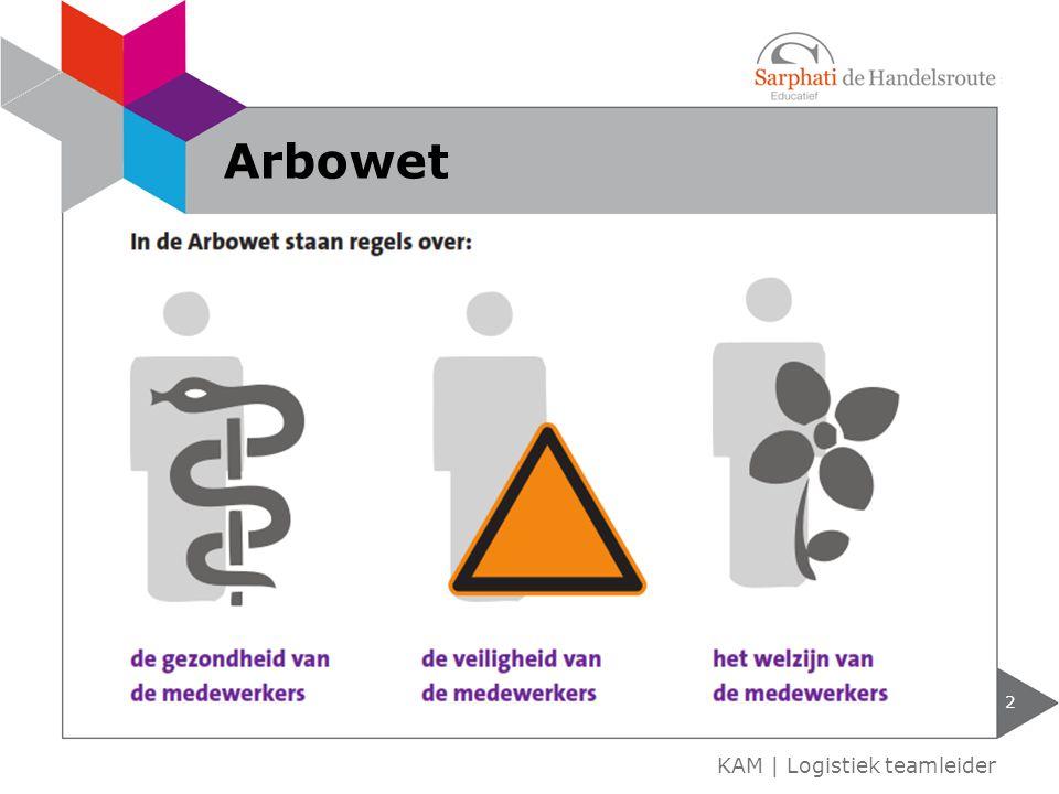 Arbowet KAM | Logistiek teamleider