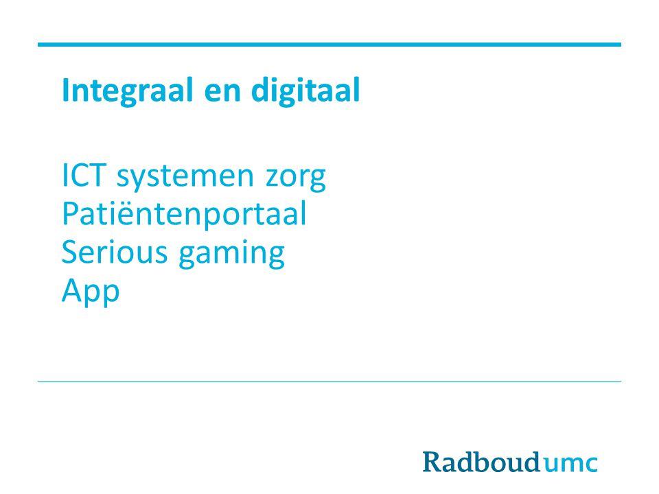 ICT systemen zorg Patiëntenportaal Serious gaming App