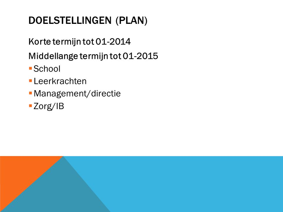 Doelstellingen (plan)