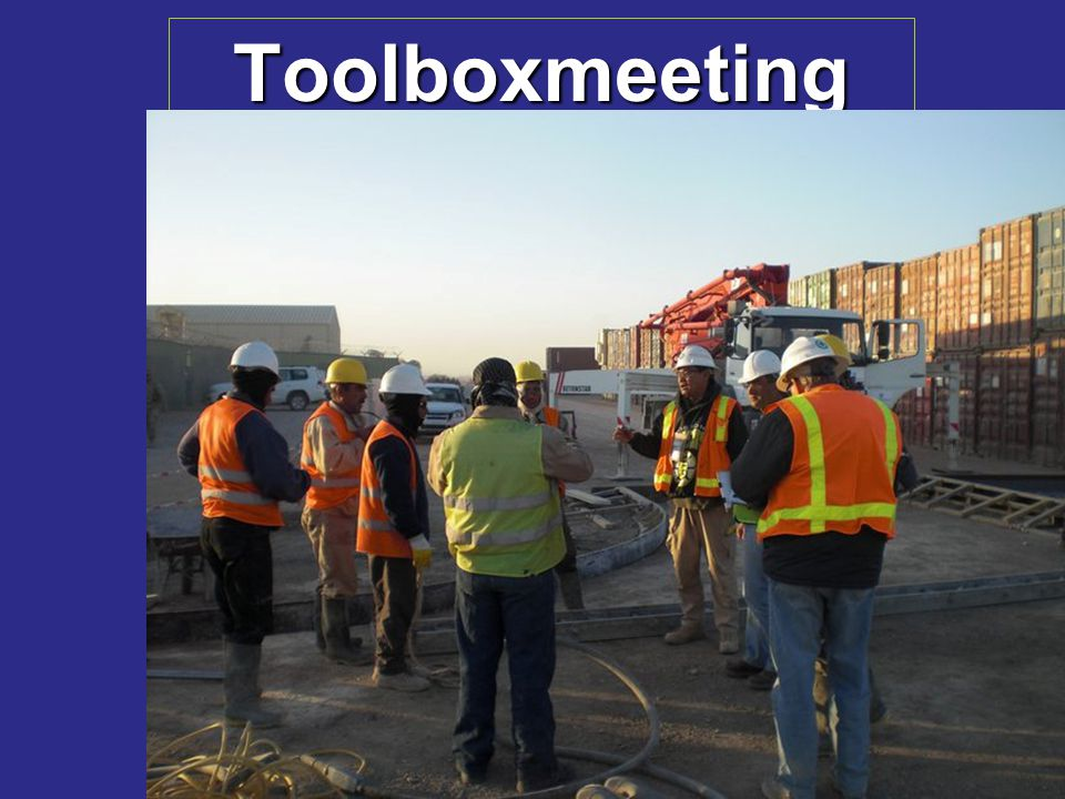 Toolboxmeeting