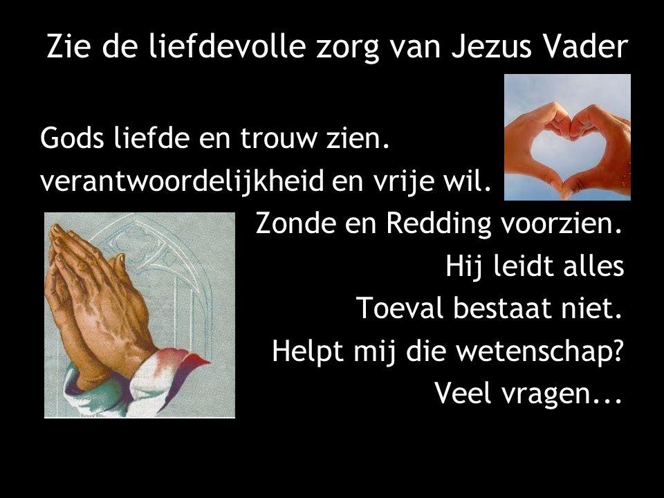Zie de liefdevolle zorg van Jezus Vader