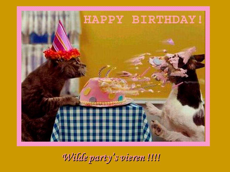 Wilde party's vieren !!!!