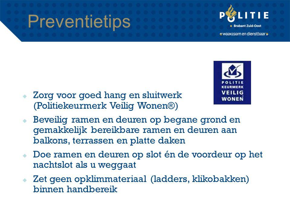 Preventietips Zorg voor goed hang en sluitwerk (Politiekeurmerk Veilig Wonen®)