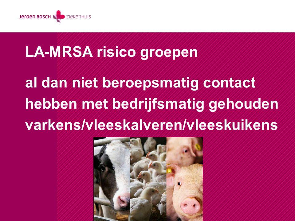 LA-MRSA risico groepen