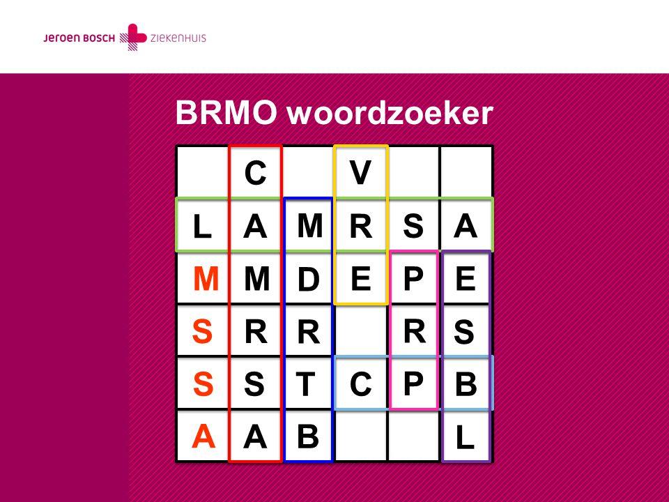 BRMO woordzoeker C V L A M R S A M M D E P E S R R R S S S T C P B A A B L