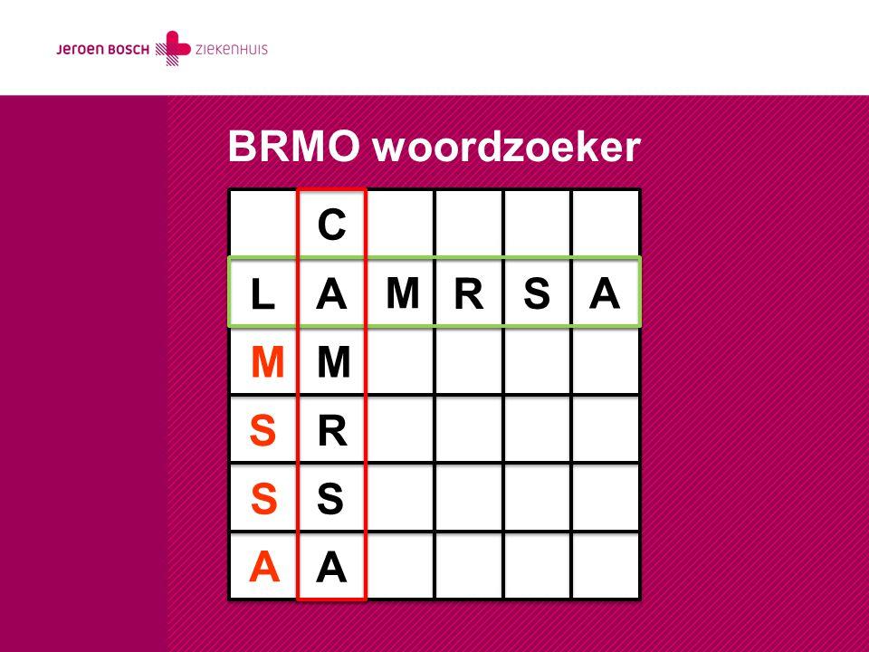 BRMO woordzoeker C L A M R S A M M S R S S A A