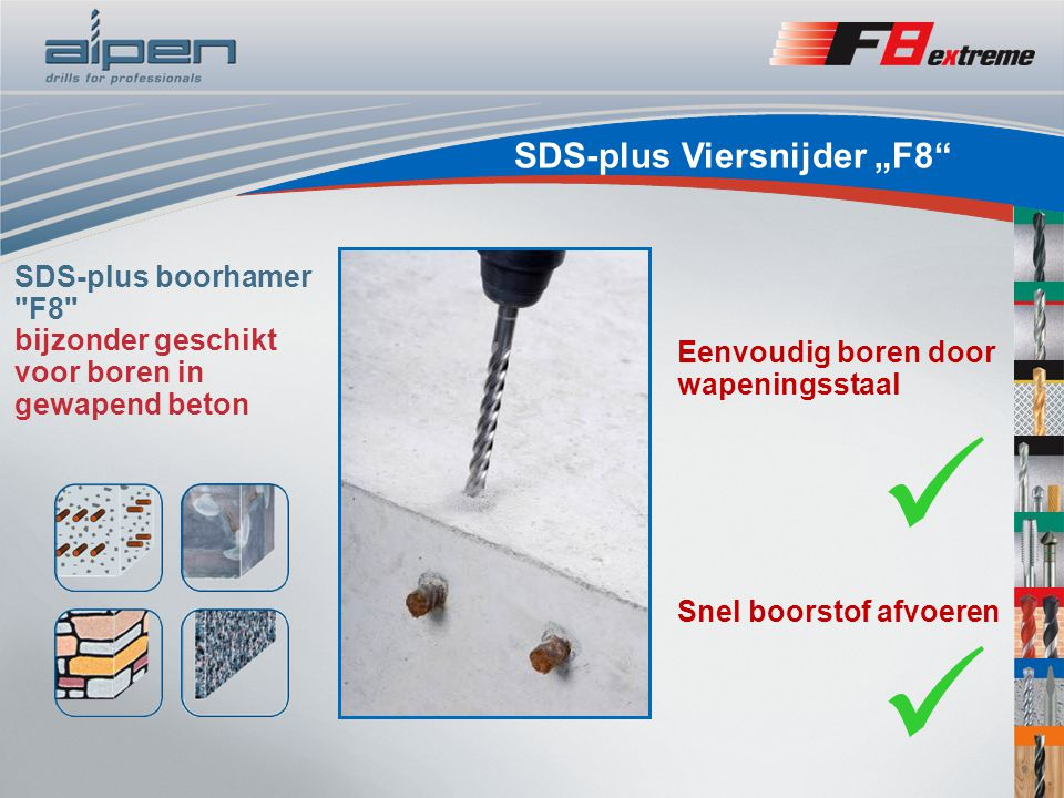 "SDS-plus Viersnijder ""F8"