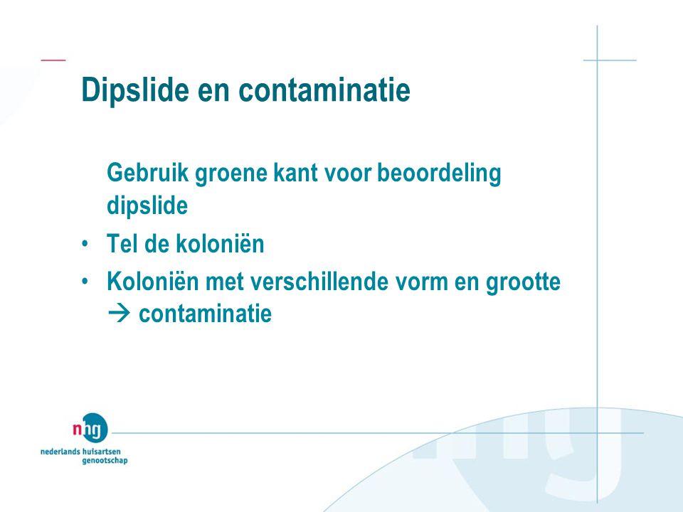Dipslide en contaminatie