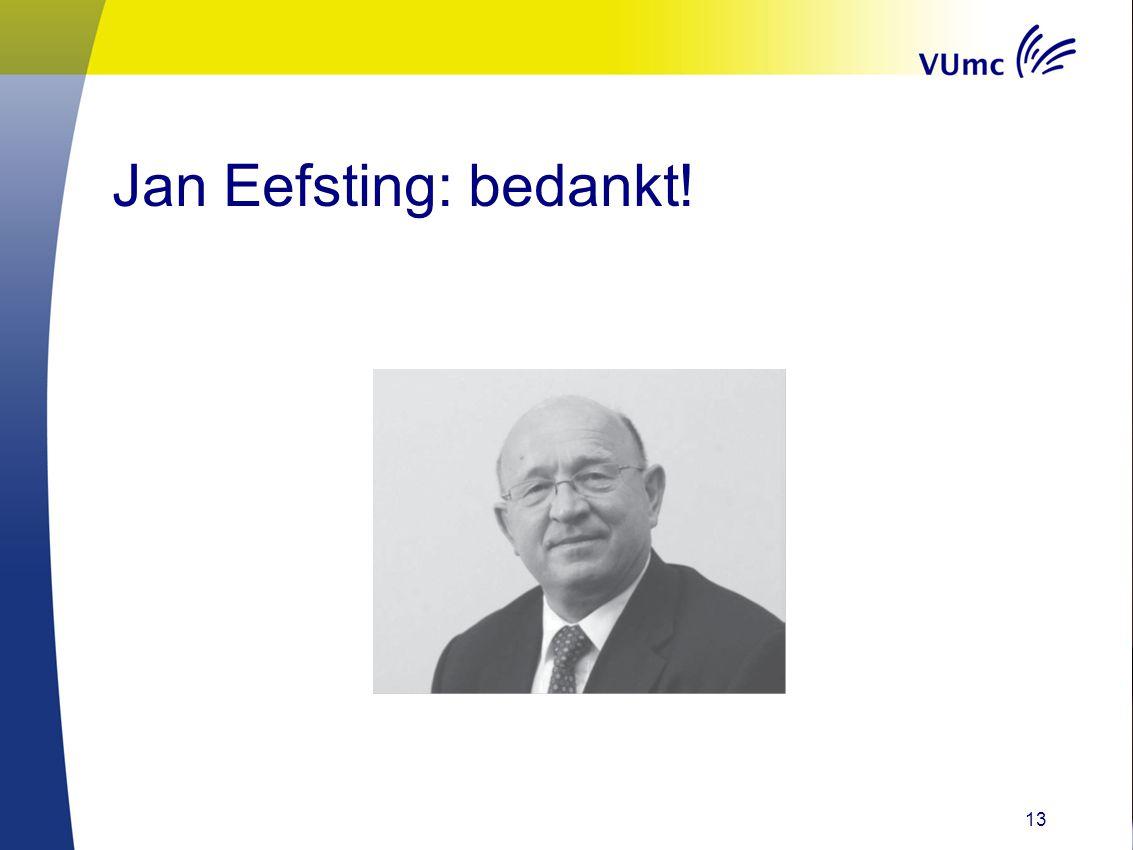 Jan Eefsting: bedankt!