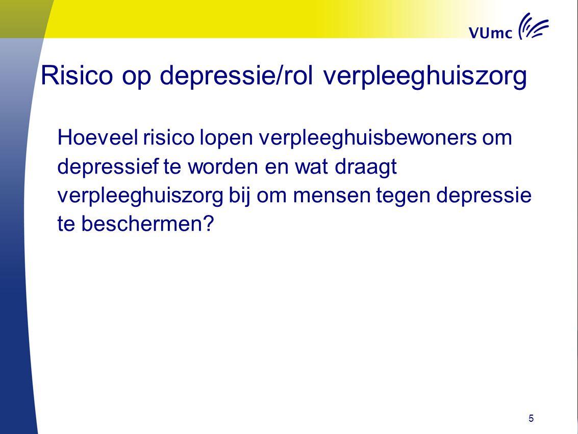 Risico op depressie/rol verpleeghuiszorg