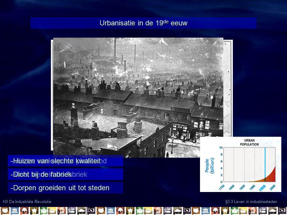 Urbanisatie in de 19de eeuw