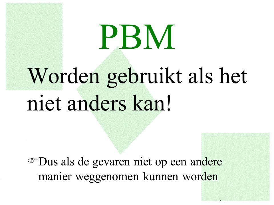 PBM Worden gebruikt als het niet anders kan!