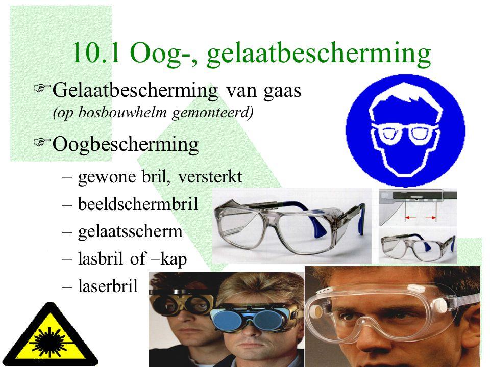 10.1 Oog-, gelaatbescherming