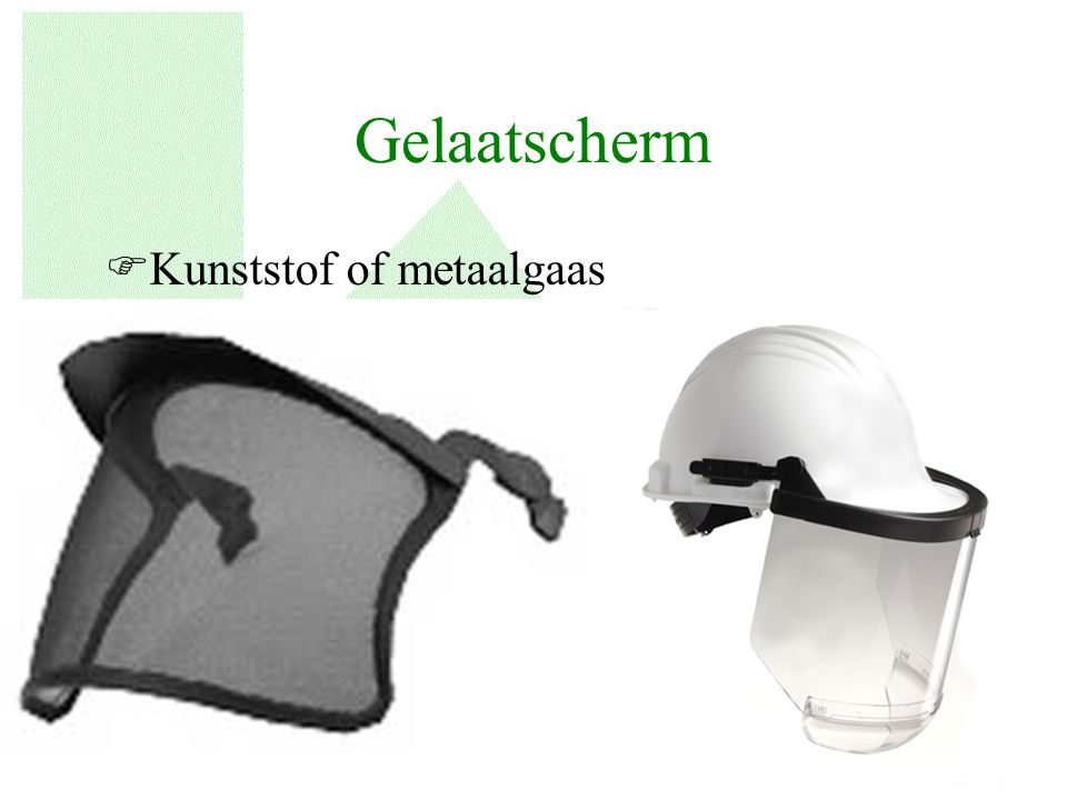 Gelaatscherm Kunststof of metaalgaas