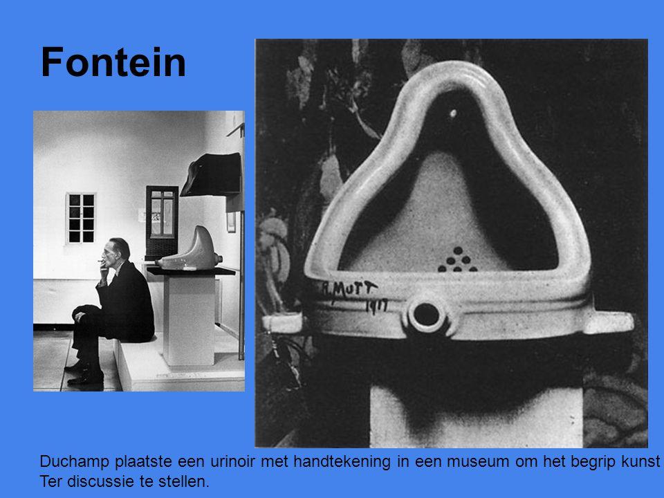 Fontein Duchamp plaatste een urinoir met handtekening in een museum om het begrip kunst.