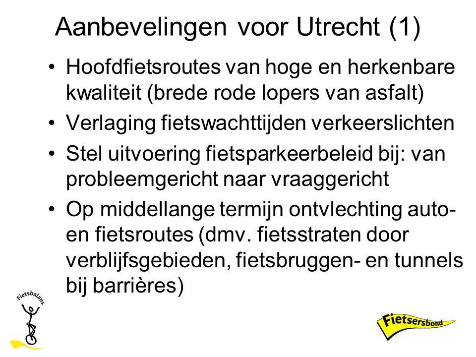 Aanbevelingen voor Utrecht (1)