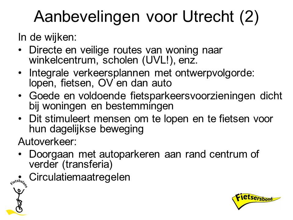 Aanbevelingen voor Utrecht (2)