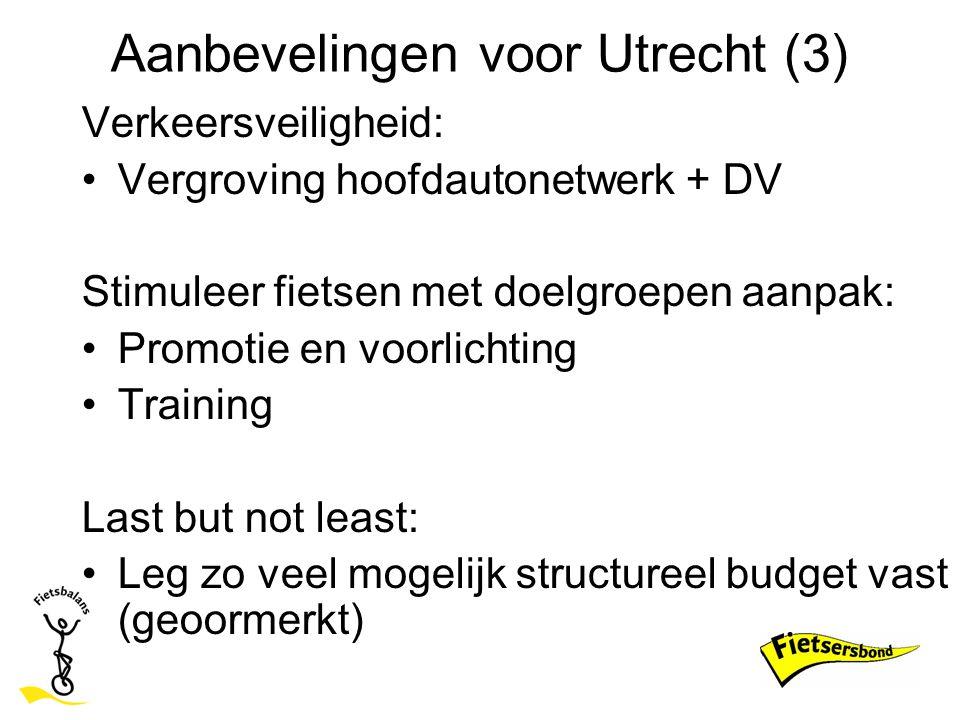 Aanbevelingen voor Utrecht (3)