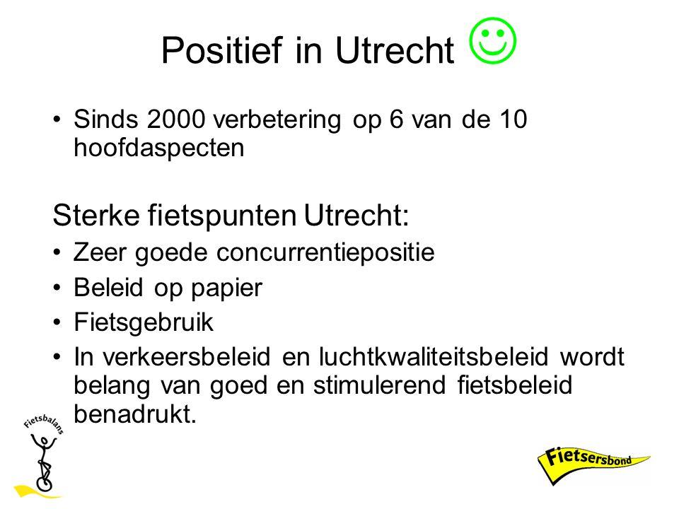Positief in Utrecht  Sterke fietspunten Utrecht: