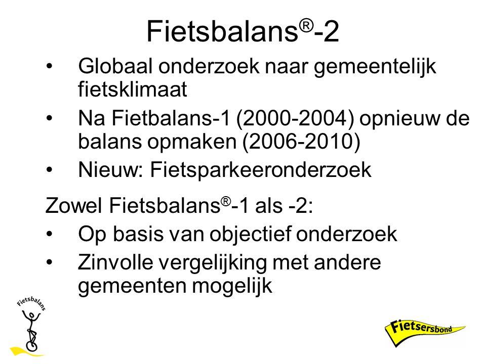 Fietsbalans®-2 Globaal onderzoek naar gemeentelijk fietsklimaat