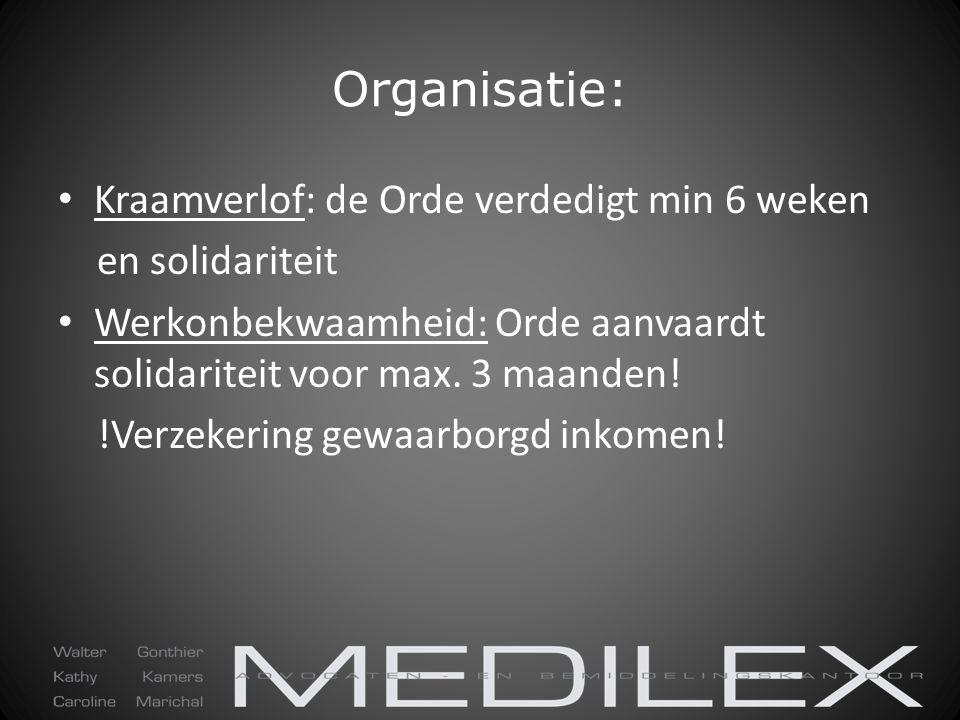 Organisatie: Kraamverlof: de Orde verdedigt min 6 weken