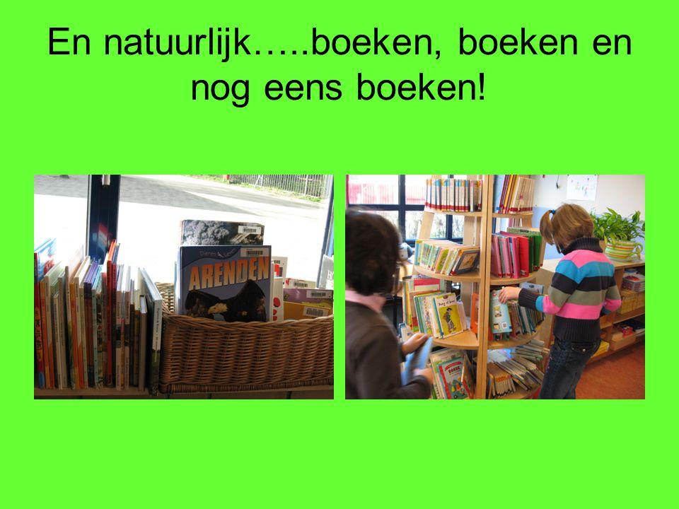En natuurlijk…..boeken, boeken en nog eens boeken!