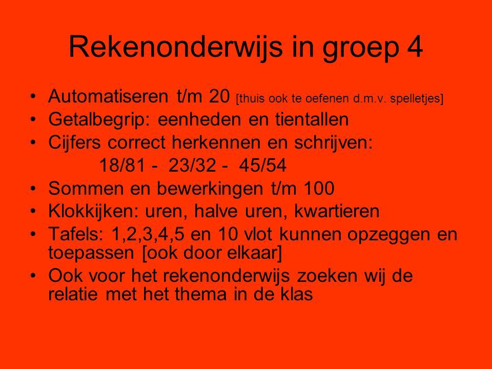 Rekenonderwijs in groep 4