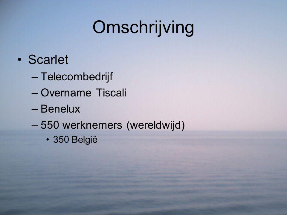 Omschrijving Scarlet Telecombedrijf Overname Tiscali Benelux