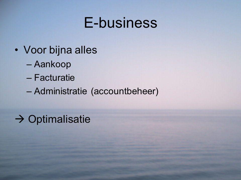 E-business Voor bijna alles  Optimalisatie Aankoop Facturatie