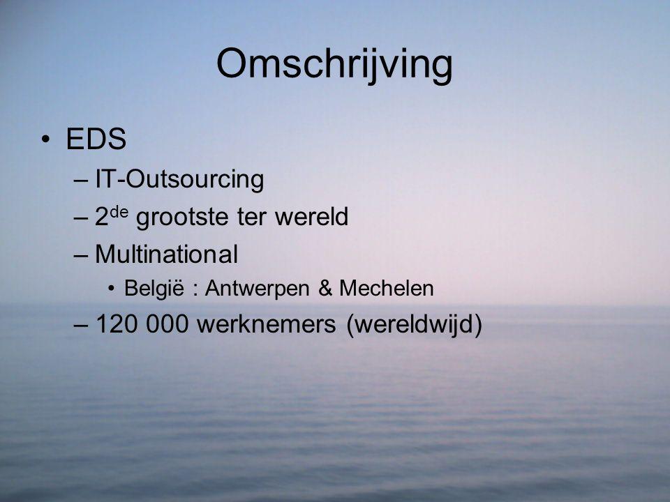 Omschrijving EDS IT-Outsourcing 2de grootste ter wereld Multinational