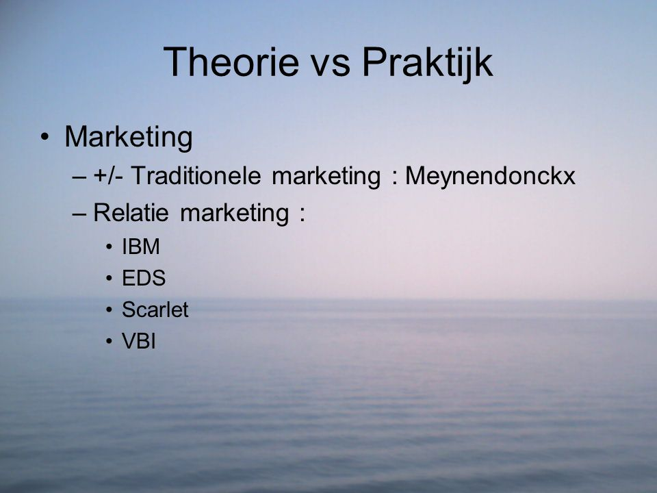 Theorie vs Praktijk Marketing
