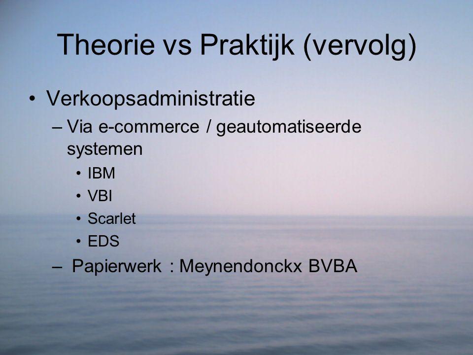 Theorie vs Praktijk (vervolg)