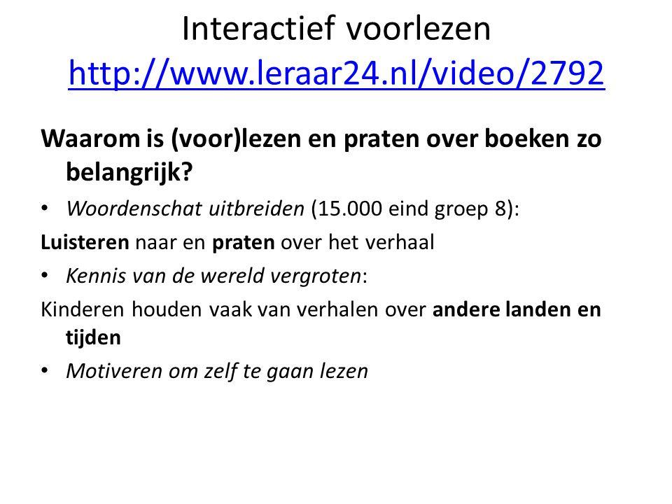Interactief voorlezen http://www.leraar24.nl/video/2792