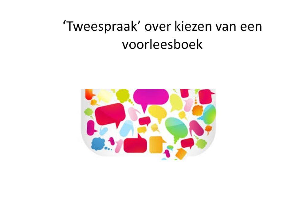 'Tweespraak' over kiezen van een voorleesboek