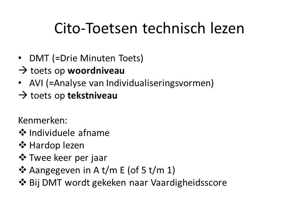 Cito-Toetsen technisch lezen
