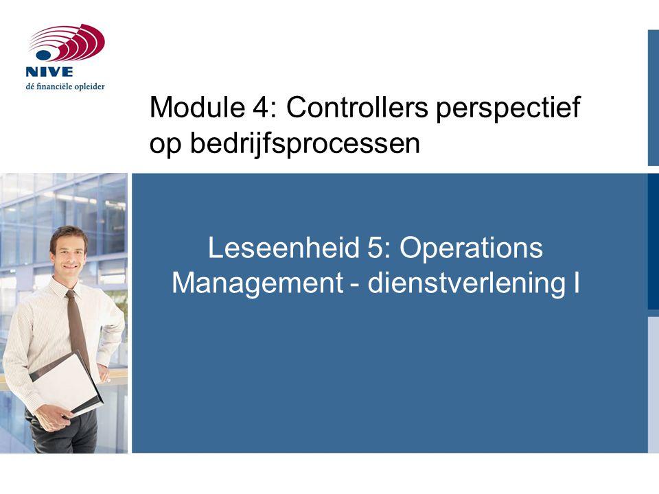 Module 4: Controllers perspectief op bedrijfsprocessen