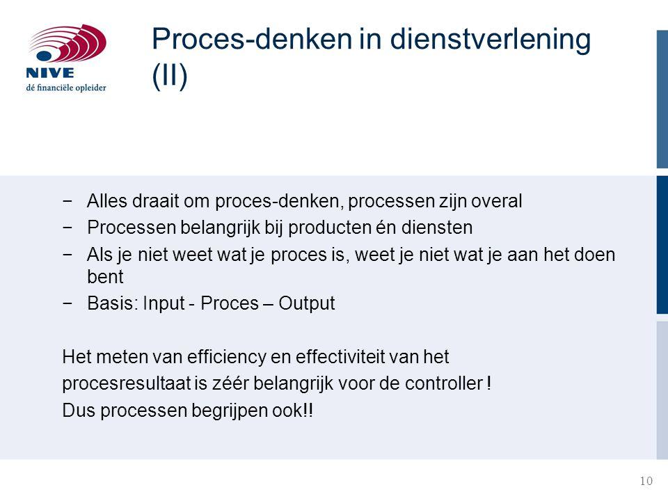 Proces-denken in dienstverlening (II)