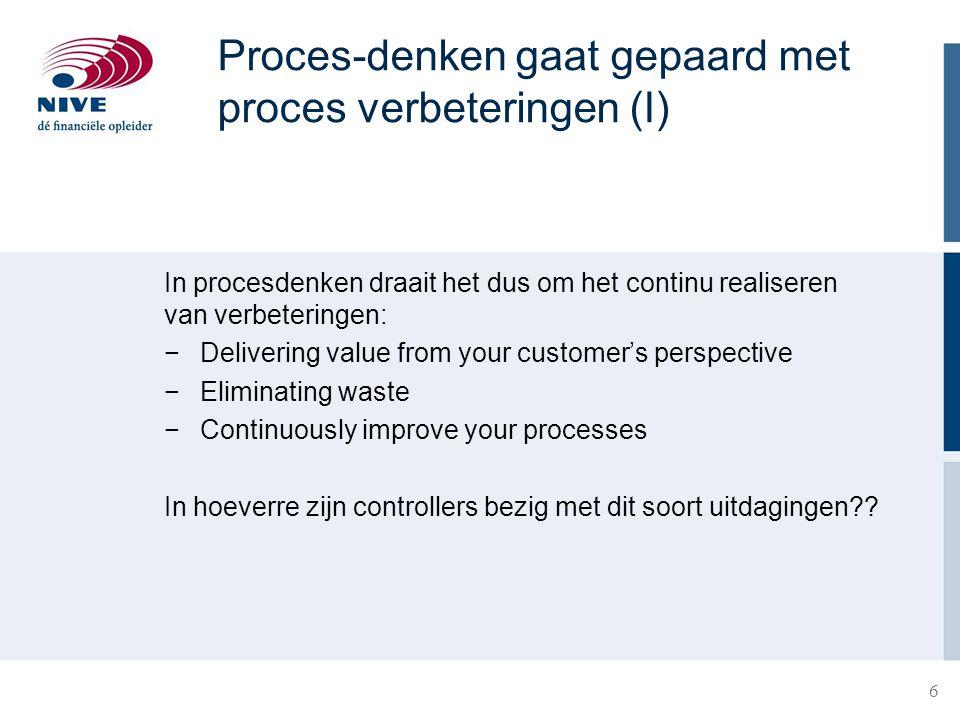 Proces-denken gaat gepaard met proces verbeteringen (I)