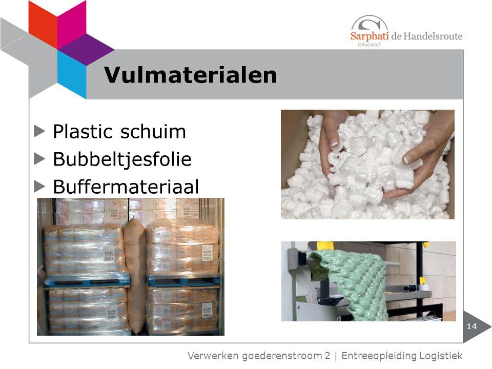 Vulmaterialen Plastic schuim Bubbeltjesfolie Buffermateriaal