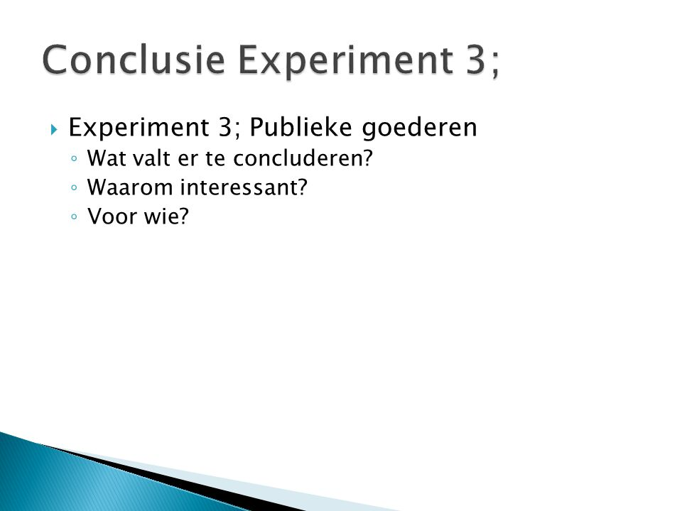 Conclusie Experiment 3;