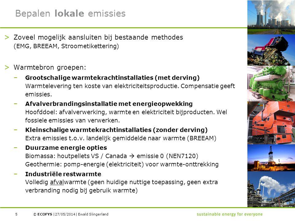 Bepalen lokale emissies