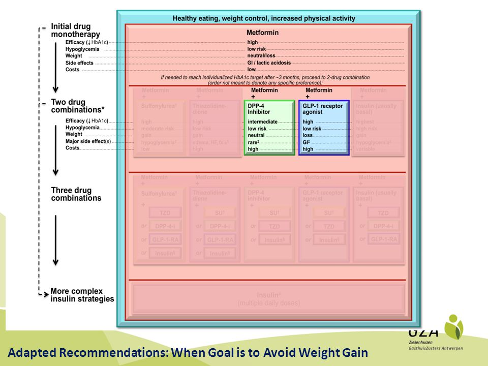 Adapted Recommendations: When Goal is to Avoid Weight Gain