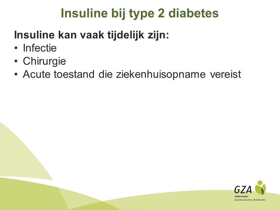 Insuline bij type 2 diabetes