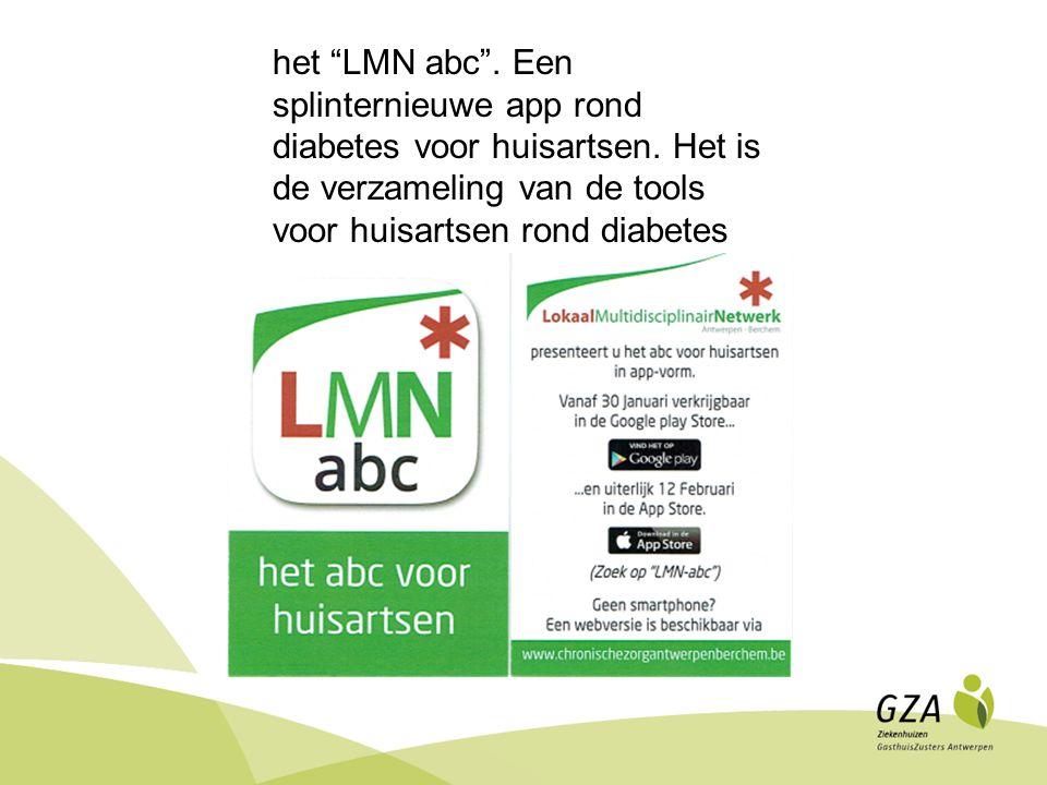 het LMN abc . Een splinternieuwe app rond diabetes voor huisartsen