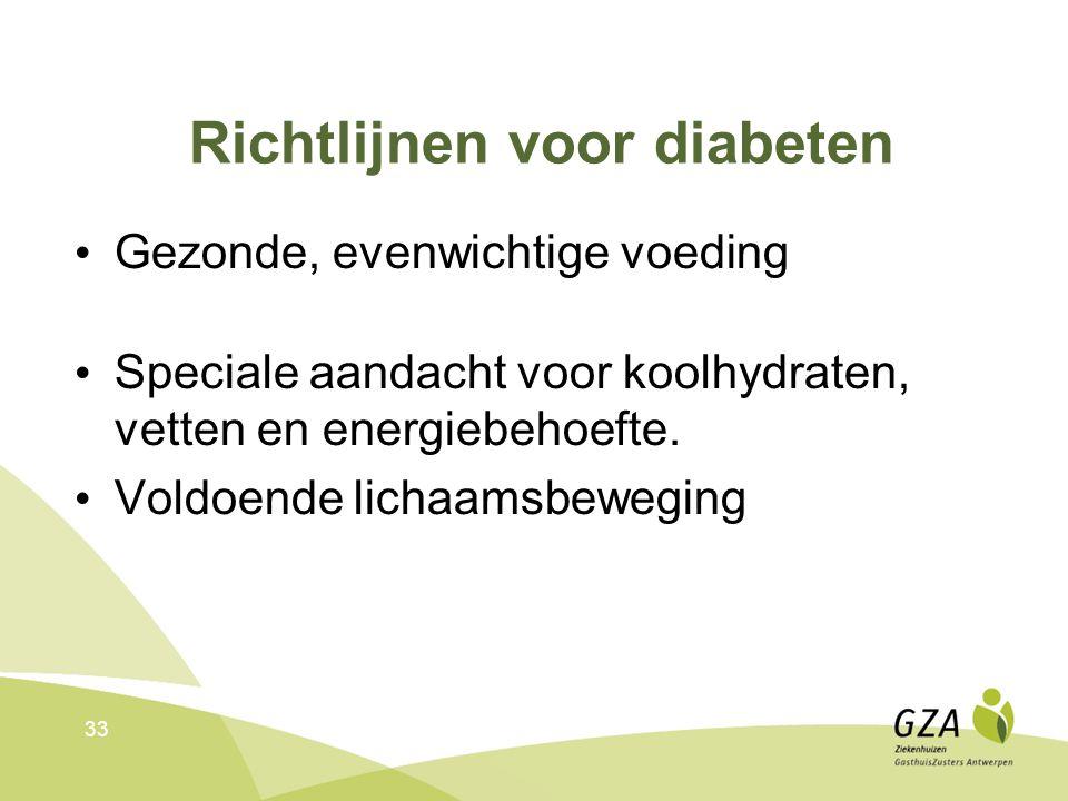 Richtlijnen voor diabeten